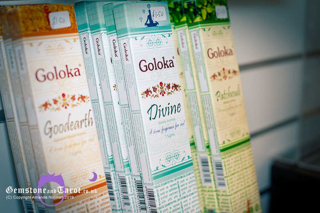Use Goloka Incense sticks for cleansing gemstone crystals