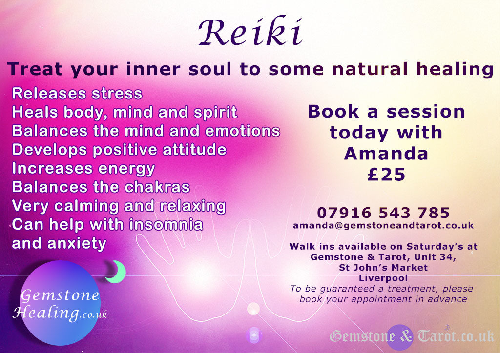 Reiki with Amanda in Liverpool