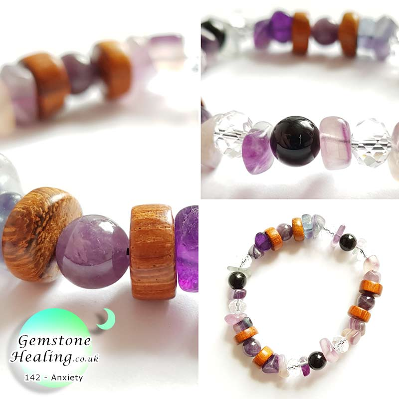 Help manage your anxiety with this gemstone healing bracelet