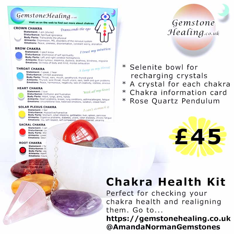 Chakra health kit from Amanda Norman of Gemstone Healing
