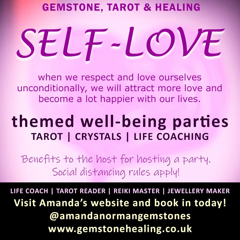 Self-love themed wellbeing party by Gemstone, Tarot and Healing based in Liverpool