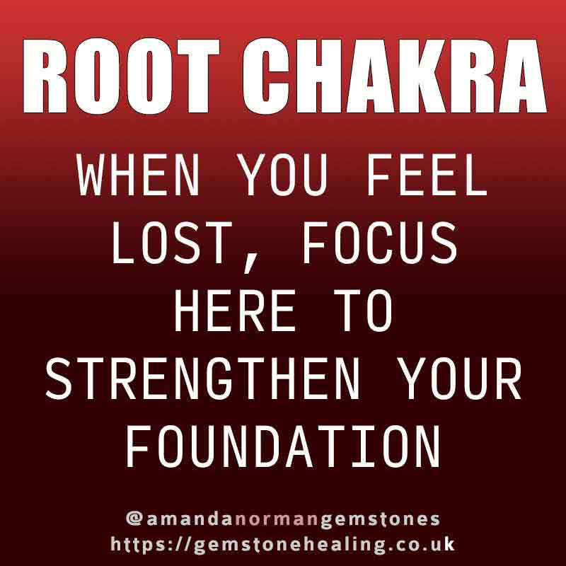Work on your root chakra when feeling lost